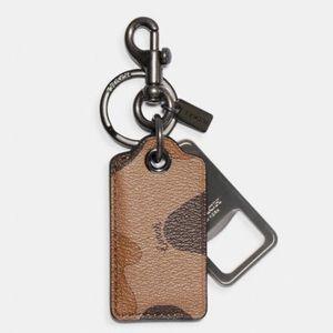 Coach Camo Bottle Opener Key Fob
